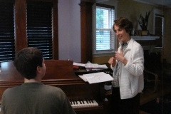 Piano lesson at Nina Grimaldi Piano Lessons