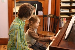 Young Student Learning Piano