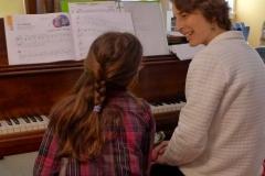Nina Grimaldi and piano student